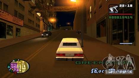 Para aumentar ou diminuir o radar em GTA V para GTA San Andreas quinto tela