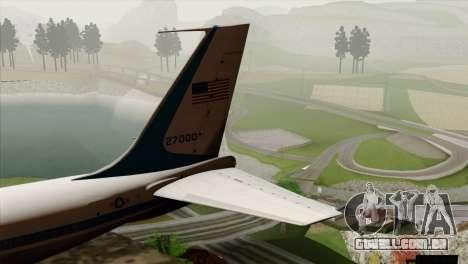 Boeing VC-137 para GTA San Andreas traseira esquerda vista