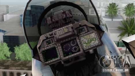 F-15E Artic Blue para GTA San Andreas vista traseira