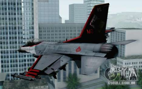 F-16 15th Fighter Squadron Windhover para GTA San Andreas esquerda vista