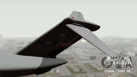 C-17A Globemaster III NATO para GTA San Andreas traseira esquerda vista