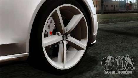 Audi A4 Avant 2013 para GTA San Andreas traseira esquerda vista