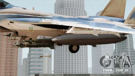 F-15E Artic Blue para GTA San Andreas vista direita