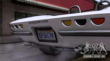 GTA 5 Invetero Coquette Classic TL para GTA San Andreas vista traseira