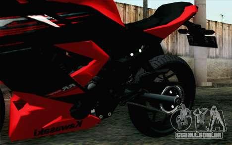 Kawasaki Ninja 250RR Mono Red para GTA San Andreas vista direita