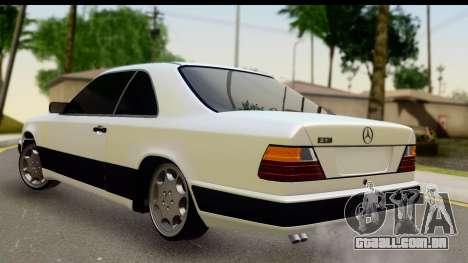 Mercedes Benz E320 W124 Coupe para GTA San Andreas esquerda vista