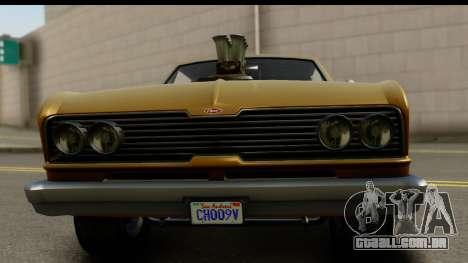 GTA 5 Vapid Blade SA Mobile para GTA San Andreas traseira esquerda vista