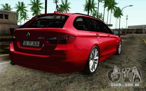 BMW 530d F11 Facelift IVF para GTA San Andreas esquerda vista