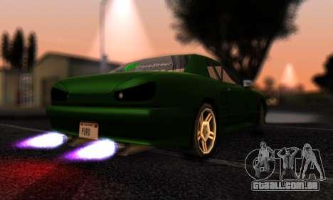 Elegy I Love GS v1.0 para GTA San Andreas traseira esquerda vista