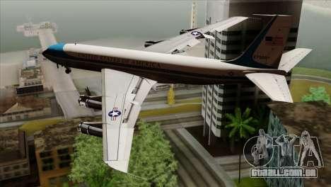Boeing VC-137 para GTA San Andreas esquerda vista