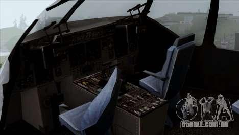 C-17A Globemaster III USAF Mississippi para GTA San Andreas vista traseira