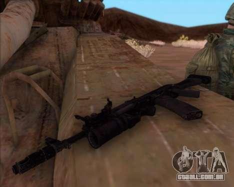 A Kalashnikov AK-74M para GTA San Andreas terceira tela