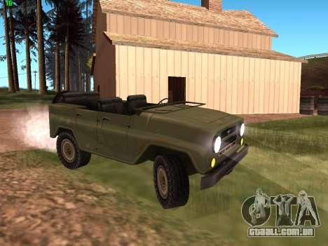 UAZ militar para GTA San Andreas esquerda vista