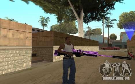 Purple Weapon Pack by Cr1meful para GTA San Andreas terceira tela