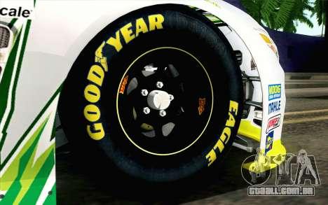 NASCAR Chevrolet SS 2013 v4 para GTA San Andreas traseira esquerda vista