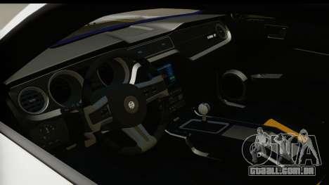 Ford Mustang 2010 Cobra Jet para GTA San Andreas vista interior