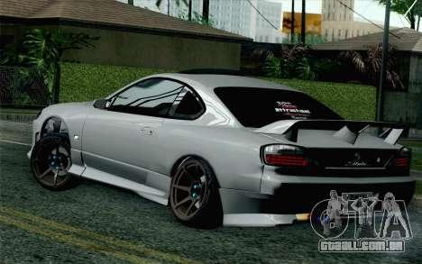 Nissan Silvia S15 SuperHero para GTA San Andreas esquerda vista