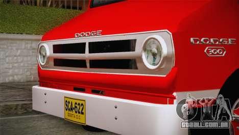 Dodge 300 Microbus para GTA San Andreas traseira esquerda vista