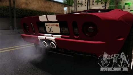 Ford GT FM3 Rims para GTA San Andreas vista traseira