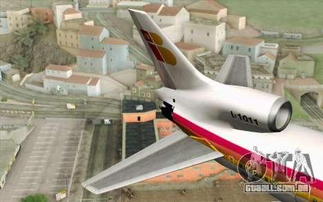 Lookheed L-1011 Iberia para GTA San Andreas traseira esquerda vista