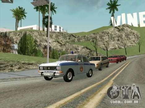 Moskvich 2140 Polícia para GTA San Andreas esquerda vista