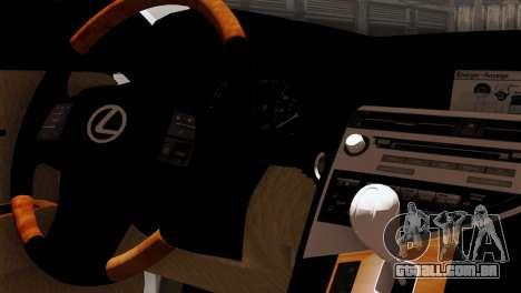 Lexus RX450H v2 para GTA San Andreas vista traseira