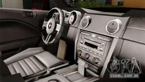 Ford Mustang GT PJ para GTA San Andreas vista direita