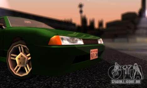 Elegy I Love GS v1.0 para GTA San Andreas esquerda vista