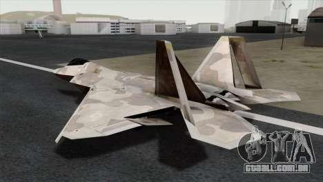 F-22 Raptor 02 para GTA San Andreas esquerda vista