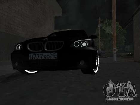 BMW 525i (e60) para GTA San Andreas vista interior