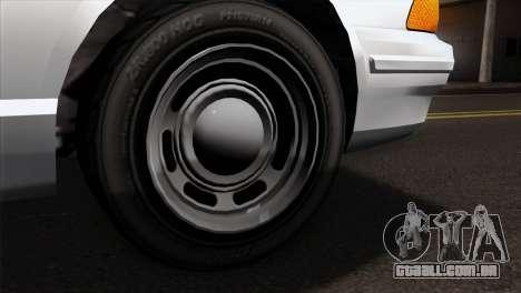 GTA 5 Vapid Stanier Sheriff SA Style para GTA San Andreas traseira esquerda vista