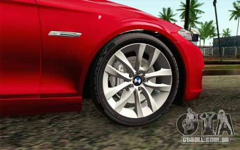 BMW 530d F11 Facelift IVF para GTA San Andreas traseira esquerda vista