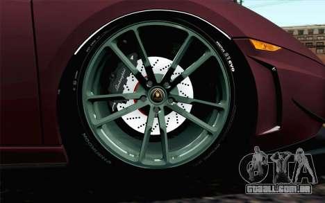 Lamborghini Gallardo LP570-4 Superleggera 2011 para GTA San Andreas traseira esquerda vista