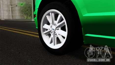 Ford Mustang GT Wheels 2 para GTA San Andreas traseira esquerda vista