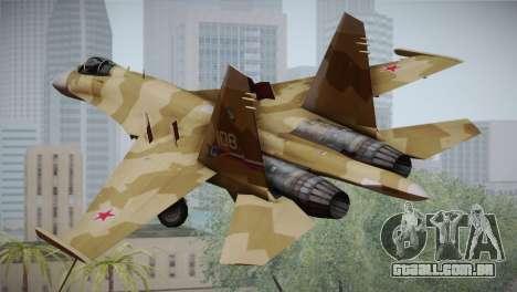 SU-27 Warwolf Squadron para GTA San Andreas esquerda vista