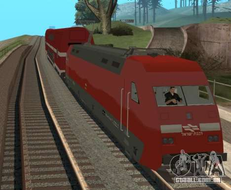 Israeli Train para GTA San Andreas esquerda vista