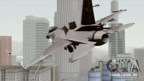 F-16C Block 52 para GTA San Andreas esquerda vista
