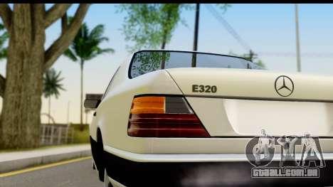 Mercedes Benz E320 W124 Coupe para GTA San Andreas vista direita