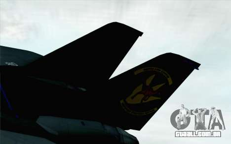 F-14 Raptor Squadron Force para GTA San Andreas traseira esquerda vista