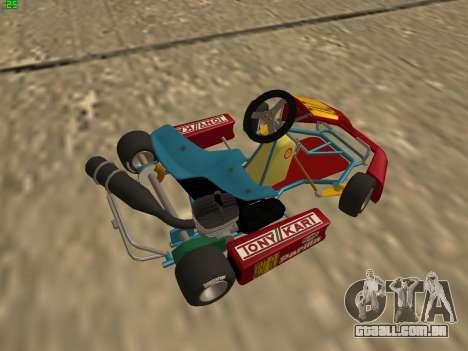 Kart per XiorXorn para GTA San Andreas traseira esquerda vista