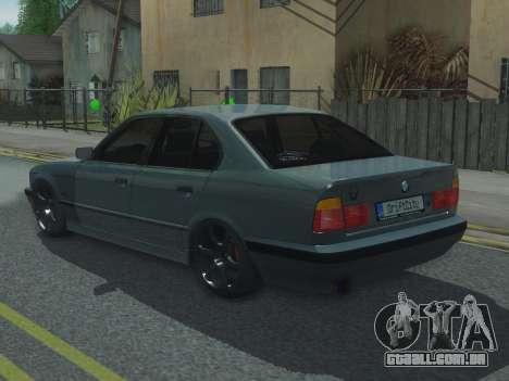 BMW 525 E34 Tune para GTA San Andreas esquerda vista
