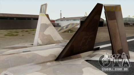 F-22 Raptor 02 para GTA San Andreas traseira esquerda vista