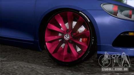 Volkswagen Scirocco GT 2009 para GTA San Andreas traseira esquerda vista