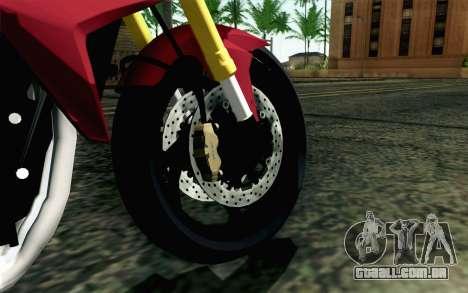 Honda CB1000R para GTA San Andreas traseira esquerda vista