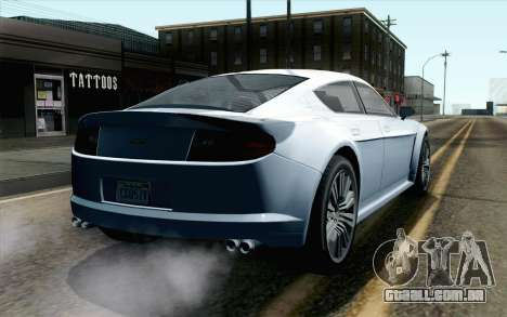 GTA 5 Dewbauchee Exemplar IVF para GTA San Andreas esquerda vista