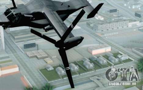 MV-22 Osprey VMM-265 Dragons para GTA San Andreas vista traseira