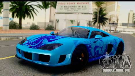 Noble M600 2010 HQLM para GTA San Andreas vista superior