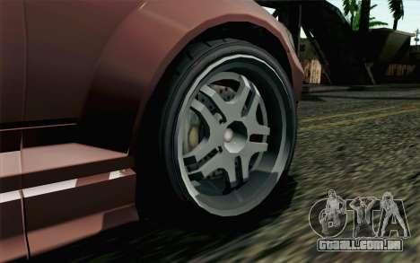 GTA 5 Benefactor Schafter SA Mobile para GTA San Andreas traseira esquerda vista