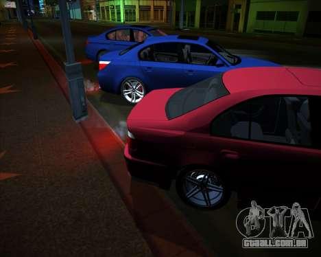 BMW 5-series E39 Vossen para GTA San Andreas vista interior