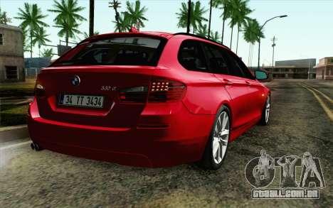 BMW 530d F11 Facelift IVF para GTA San Andreas vista traseira